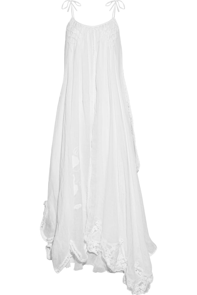 For the low-maintenance femme.  Emamó Poeme Crocheted Cotton-Blend Muslin Maxi Dress ($845)