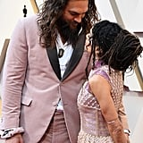 Jason Momoa and Lisa Bonet at the 2019 Oscars