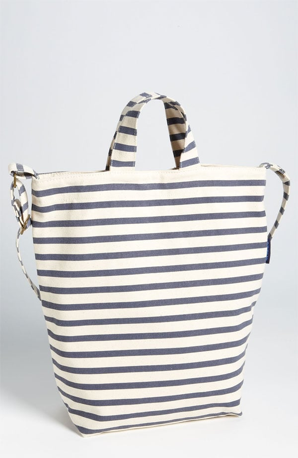 Recycled Canvas Striped Tote