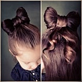 Hair Bow Half Ponytail