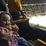 """River's first sporting event! #GoPreds #Nashville she's so excited haha!"""