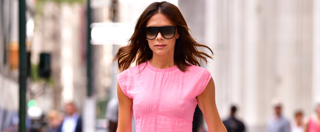 Victoria Beckham Pink Dress in NYC 2018