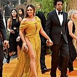 Beyoncé's Gold Cong Tri Gown at The Lion King's Premiere, 2019