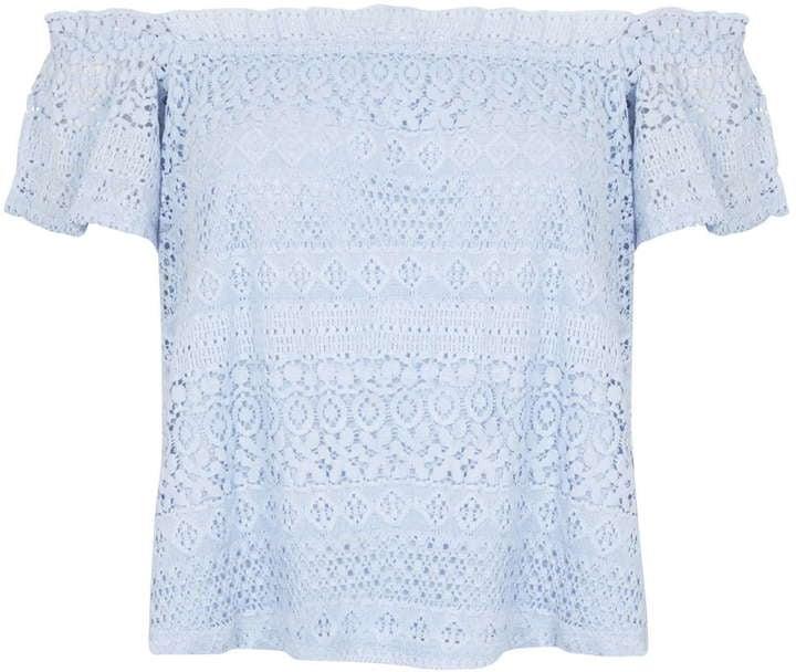 Topshop lace bardot top ($52)