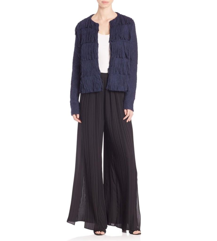 Tess Giberson Side-Slit Pleated Wide-Leg Pants ($595)