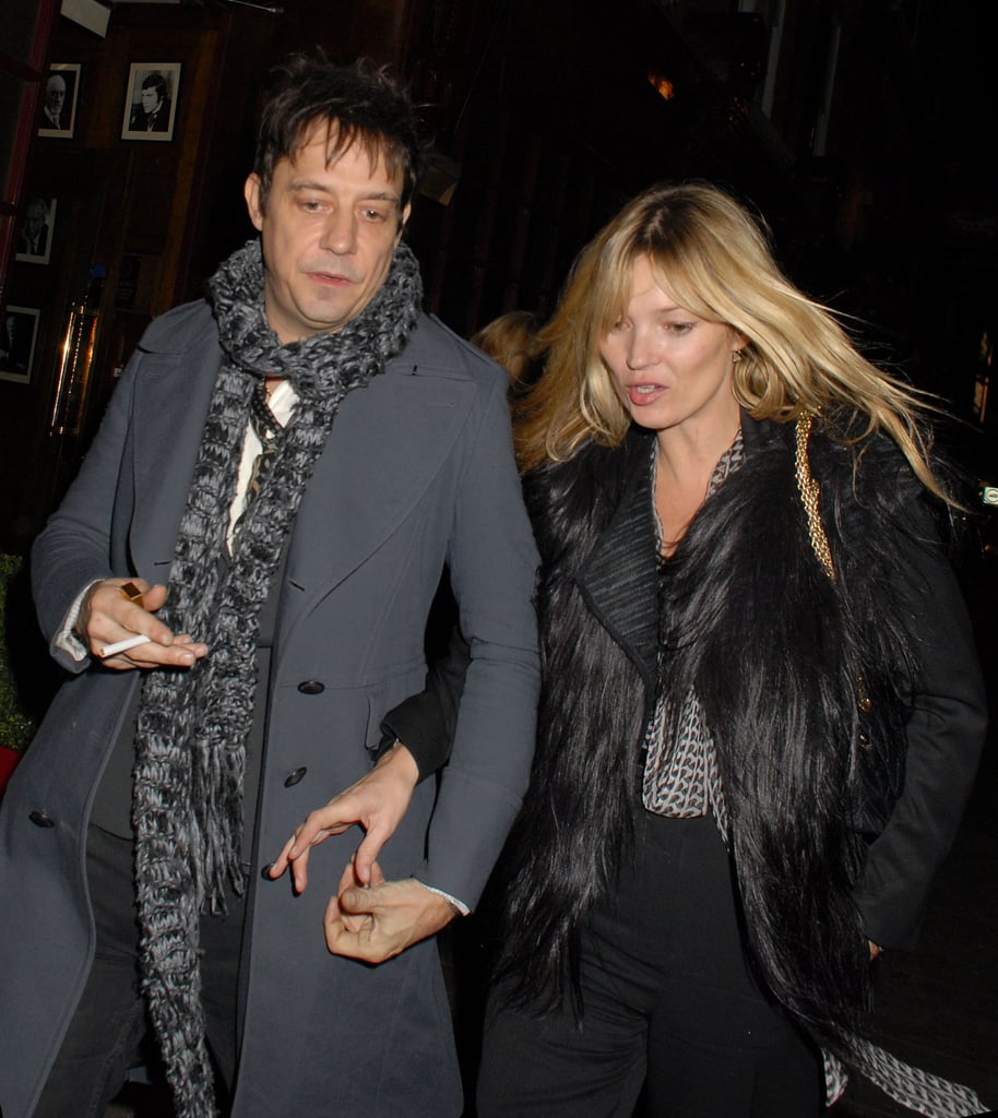 Jamie Hince reached for Kate Moss's hand.