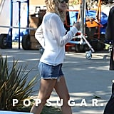 Kate Hudson showed off her legs in cutoff shorts.