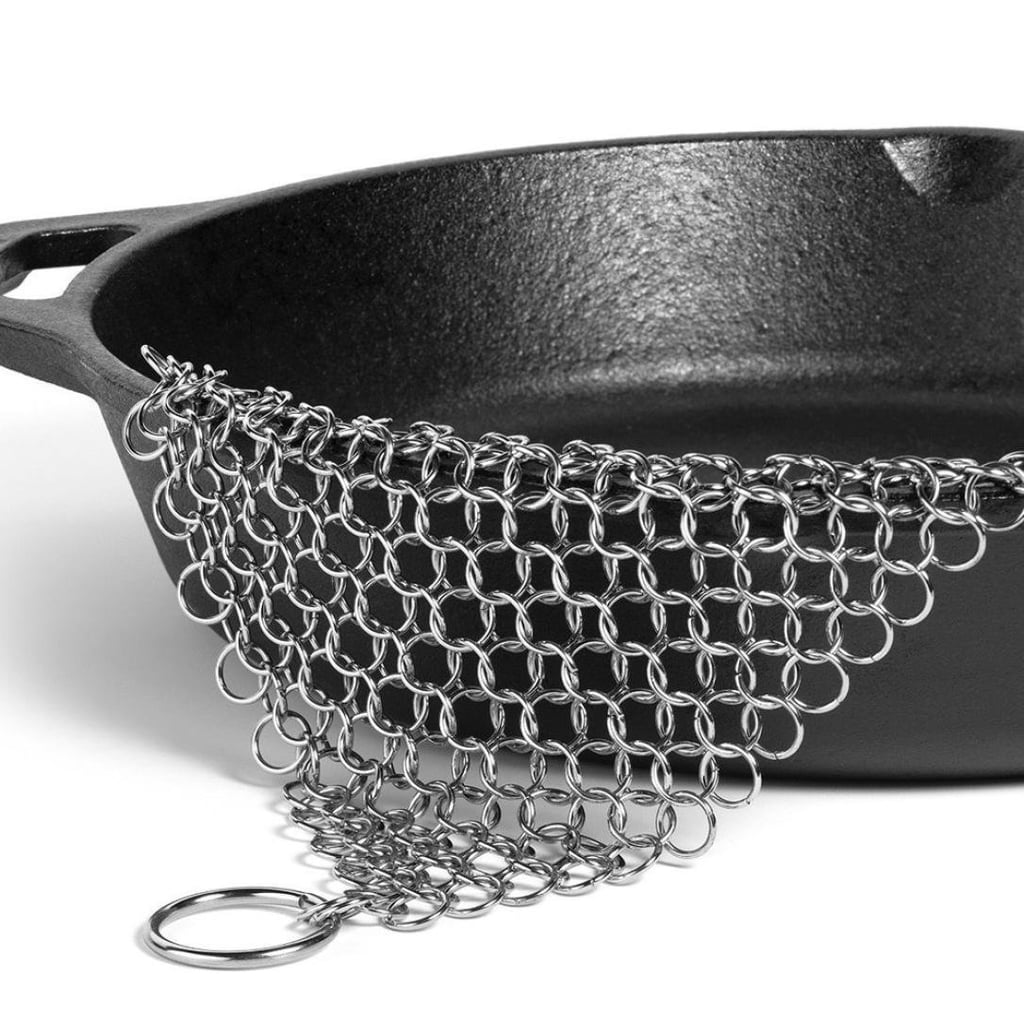 This is one of the highest rated cleaning products on Amazon in the US. Pans are so difficult to clean, this might be the answer to our cleaning woes. Stainless Steel 316 Cast Iron Cleaner Brush Scrubber For Cast Iron Pan Cast ($27.75)