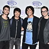 Pictured: Devon Bostick, Christopher Larkin, Bob Morley, and Richard Harmon.