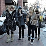 Kate, Goldie and Ryder in Aspen