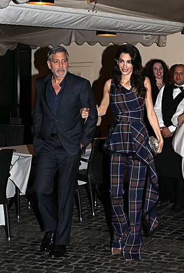 Amal Clooney's Plaid Outfit With George Clooney