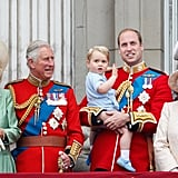 Prince George at Trooping the Colour in 2015 Wearing His Father's Blue Onesie
