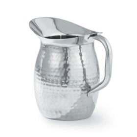 Artisan Stainless Steel Serving Pitcher with Hammered Texture