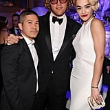 A star-studded trio: Thakoon Panichgul, Pucci's Peter Dundas, and Rita Ora struck a pose.