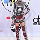 Taylor Swift's Thigh-High Metallic Boots