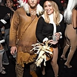 Jason Walsh and Hilary Duff as a Native American and a Pilgrim