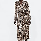 Zara Long Leopard Print Dress
