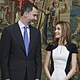 King Felipe VI and Queen Letizia shared the look of love at the February National Culture Awards.