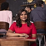 """POPSUGAR: When you do go out, what's your ideal cuisine?  Mindy Kaling: When I was pregnant, I was not allowed to eat any sushi. I still feel deprived from that time, even though my daughter's 9 months old, so for me, I definitely go to sushi.  PS: Go-to Postmates order? MK: My go-to Postmates is probably Shake Shack. [laughs] Why am I answering these questions so quickly? I'm like, """"Definitely Shake Shack!"""" Most actresses are like, """"Shake Shack? I make my own granola."""" PS: Well, you do make your own baby food! MK: I do make my own baby food, yes! Although now, she won't eat it. I used to puree all this baby food for her — and now she's just like, I don't want that, I just want to eat what you're eating. So I have to eat a little healthier at home.  PS: Do you have any particular memories of going out to eat with family or friends that really stick in your mind? MK: When I was growing up, it wasn't like we went to fancy places for dinner. But every Friday night, we'd go to Chili's. My dad would always get the fajitas and they would come out on a sizzling platter and we would just always go to Chili's. So much so that, when I was on The Office, I would write in Chili's things for characters. People always thought they were like, paying the show, but no. I just had such a familial feeling about Chili's growing up. PS: Almost everyone has been impacted by cancer in some way in their life. Can you share a little bit about why this cause is meaningful to you, personally? MK: Well, I, like millions of American families, have had cancer in my immediate family, and it's devastating. I remember when my mom was diagnosed. You might think of organizations like Stand Up to Cancer as helping only the person with cancer, but it's actually a support system for the family. And so, for me, this partnership between Mastercard and Stand Up to Cancer is so amazing. For someone who's such a consumer like I am, who loves to go out to eat and hang out with friends, it's the most painless,"""