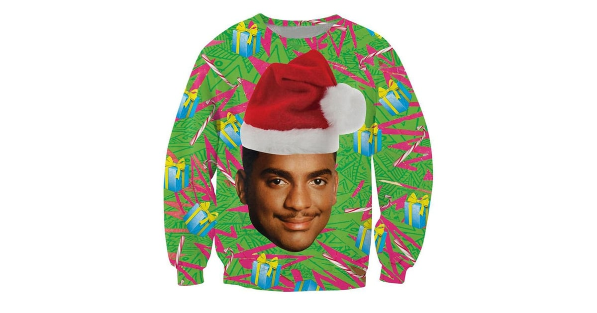 carlton ugly christmas sweater fresh prince of bel air ugly christmas sweaters popsugar entertainment photo 2