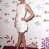 January Jones busted out her LWD by Alice + Olivia. I adore the ruffle hip action.