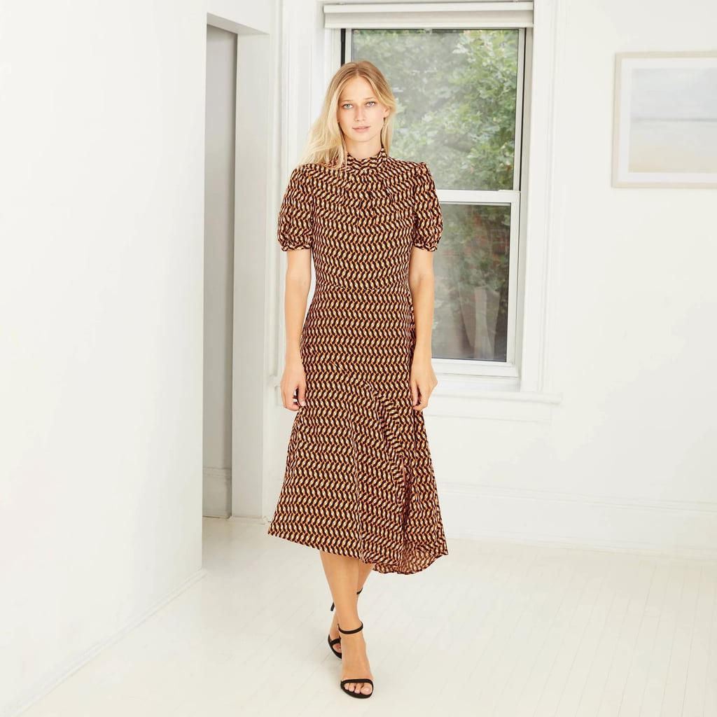 Puff Short Sleeve Tiered Ruffle Dress