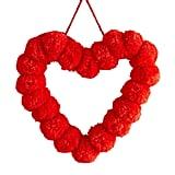 """14"""" Pom-Pom Heart Wreath"""