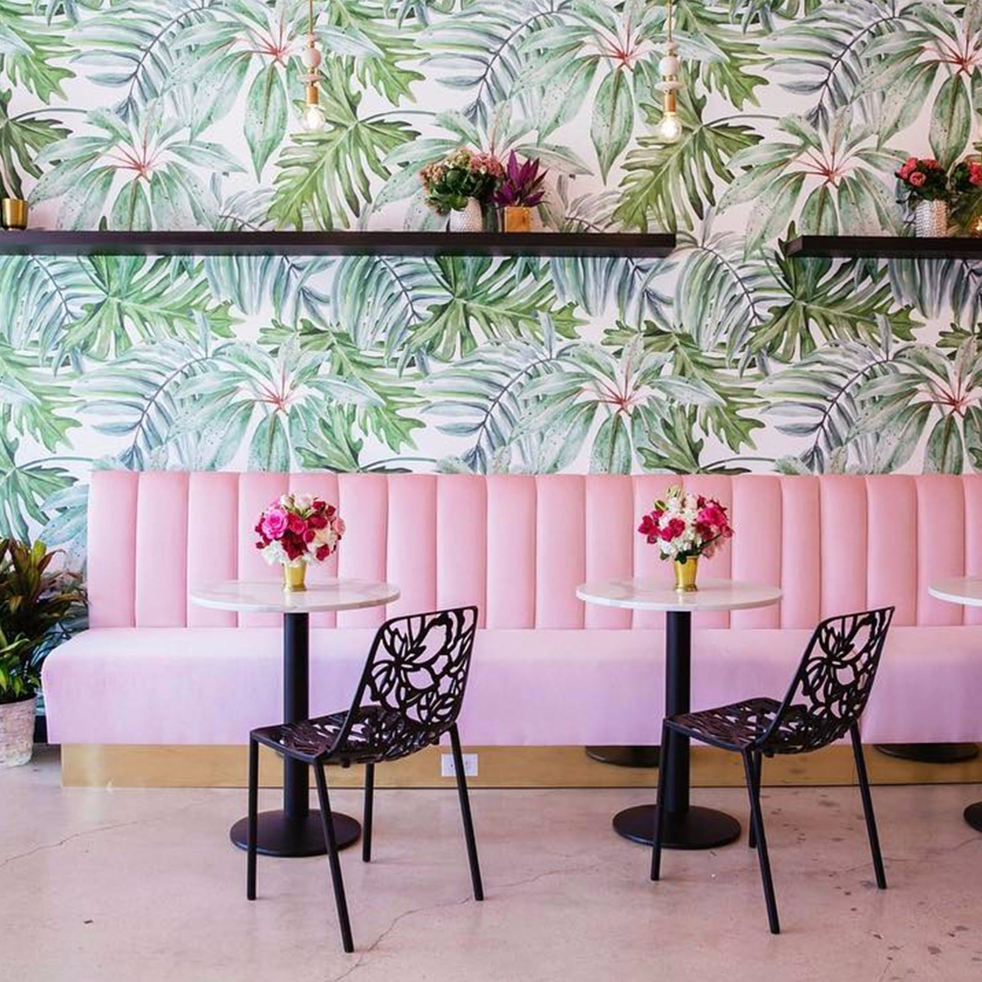 pink holy matcha cafe instagrams | popsugar fitness