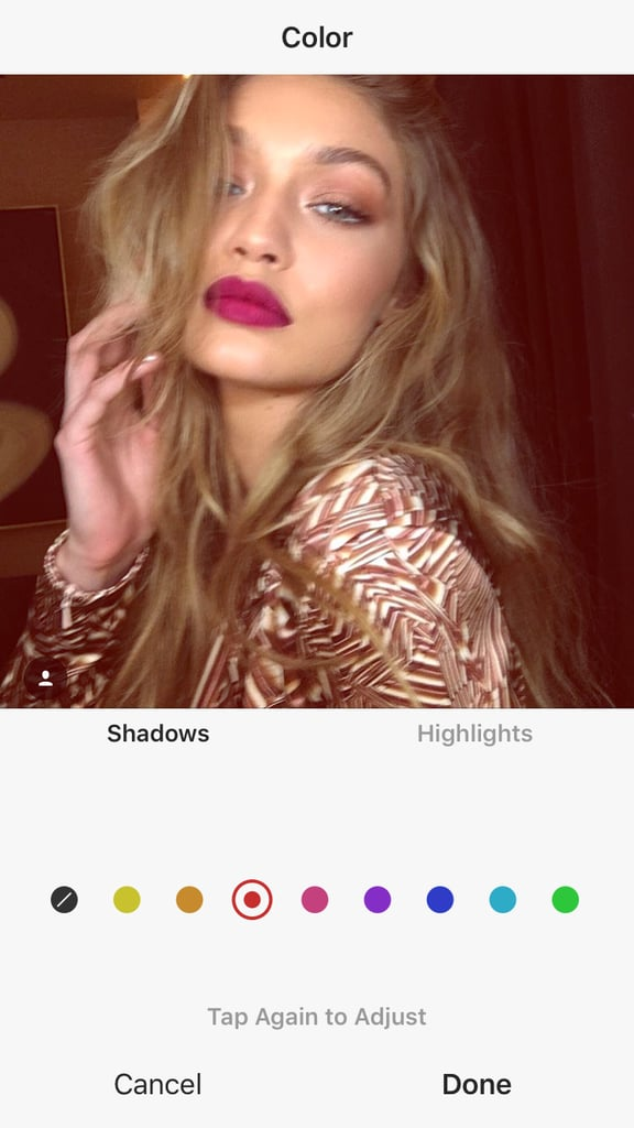 Gigi Hadid With Red Filter