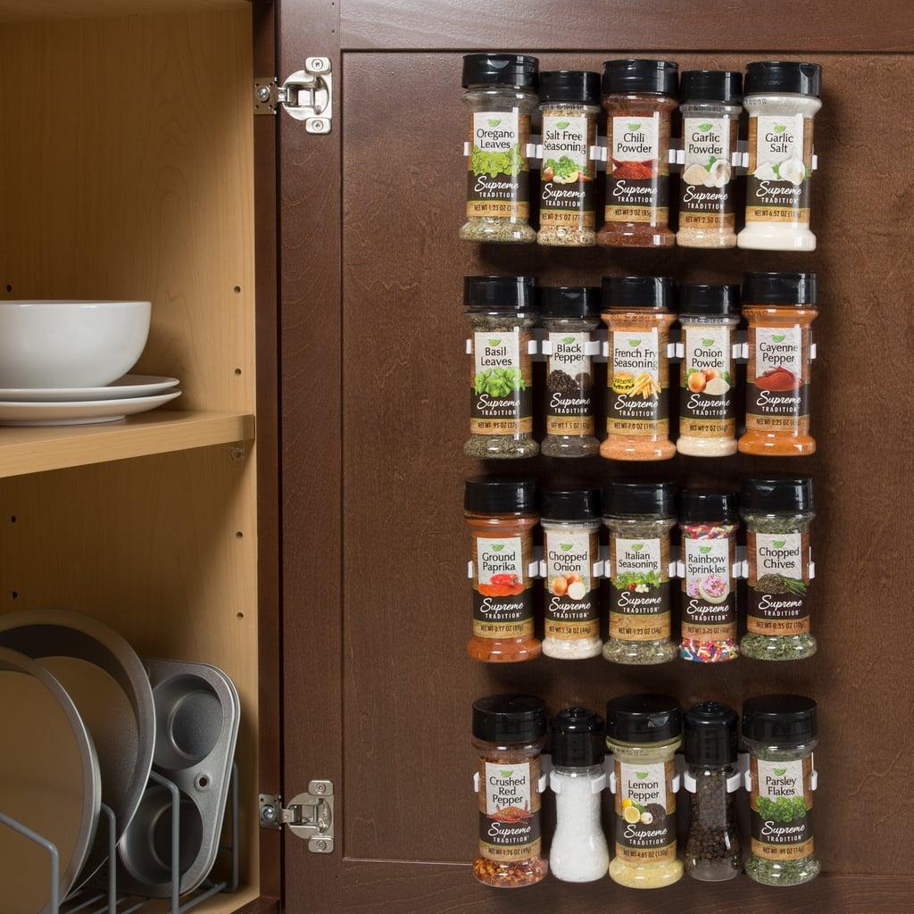 Spice Rack Cabinet Gripper Organizer
