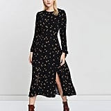Whistles Micro Floral Print Tie Cuff Dress ($369)