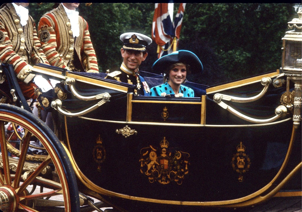 In July 1986, Prince Charles and Princess Diana travelled in a horse-drawn carriage to the wedding of Prince Andrew and Sarah Ferguson.