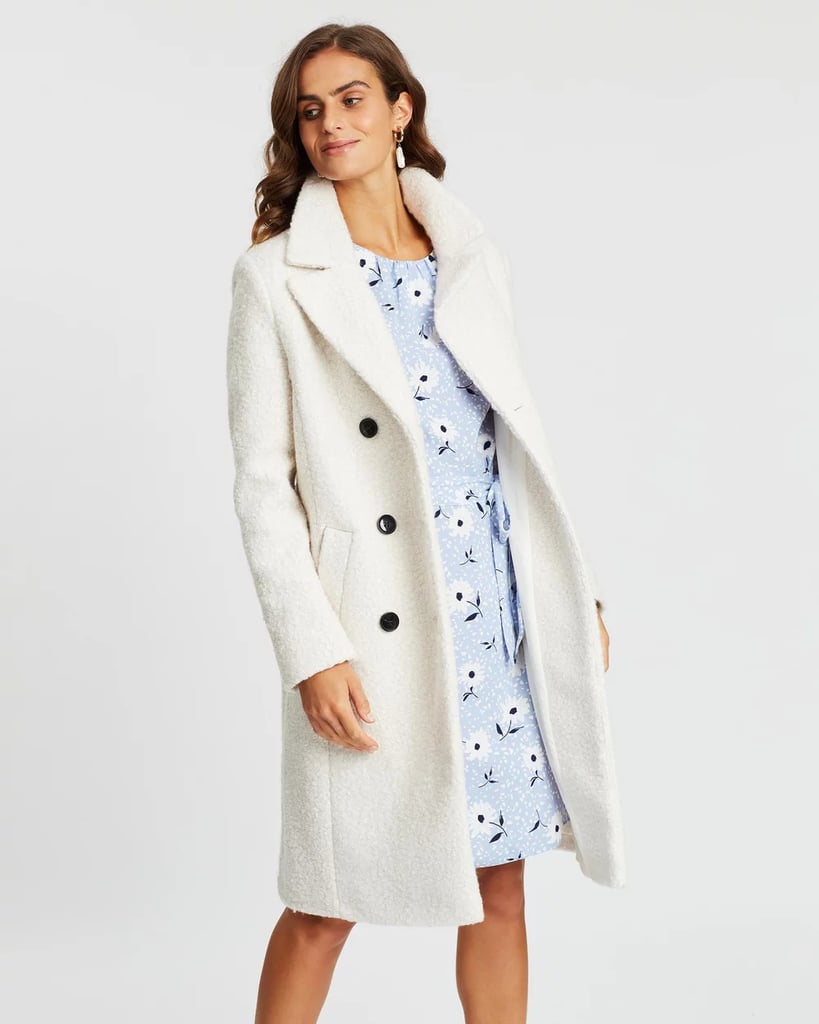 Dorothy Perkins Boucle Midi Double-Breasted Coat