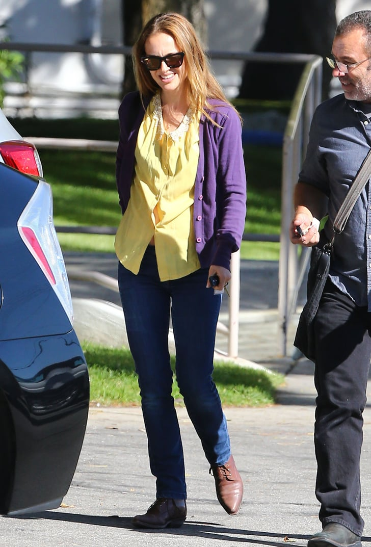 Natalie Portman Walks and Talks in a Colorful Combo