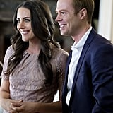 Burgess Abernethy and Laura Mitchell as Prince William and Kate Middleton