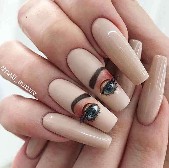 Nail Salons And Trendy Hair: Blinking Eyeball Nails Instagram Trend