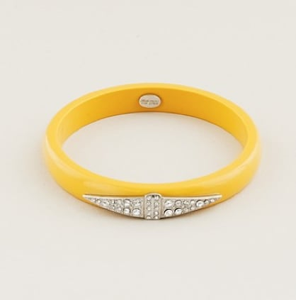 Lulu Frost for J.Crew Thin Deco Bangle in Mustard ($45)