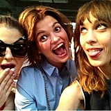 Kelly Osbourne goofed around with Pixie Geldof and Alexa Chung.  Source: Twitter user MissKellyO