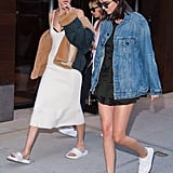 Gigi Hadid, Kendall Jenner, and Hailey Baldwin NYC June 2016