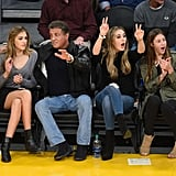 And Nailed Courtside Style