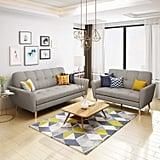 Christopher Knight Home Angelina Mid Century Fabric Sofa Set