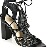 Loeffler Randall Tasseled Lace-Up Leather Sandals ($395)