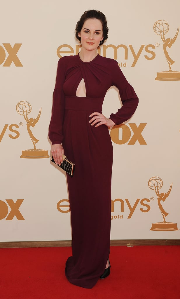 She stunned at the 2011 Emmy Awards in a merlot-hued keyhole-cut-out gown.