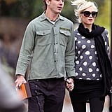 Gwen Stefani and Gavin Rossdale together in London.