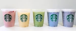 We Tried the Whole Line of Rainbow Drinks at Starbucks