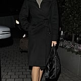 Olga Kurylenko headed to the helicopter in London.