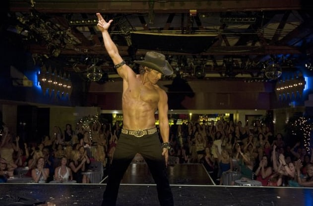 The actor took off his shirt in 2012's Magic Mike.
