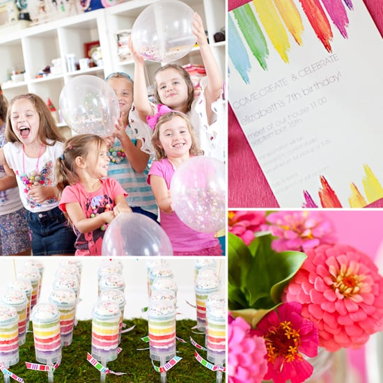 Creative and Simple Girl's Birthday Party