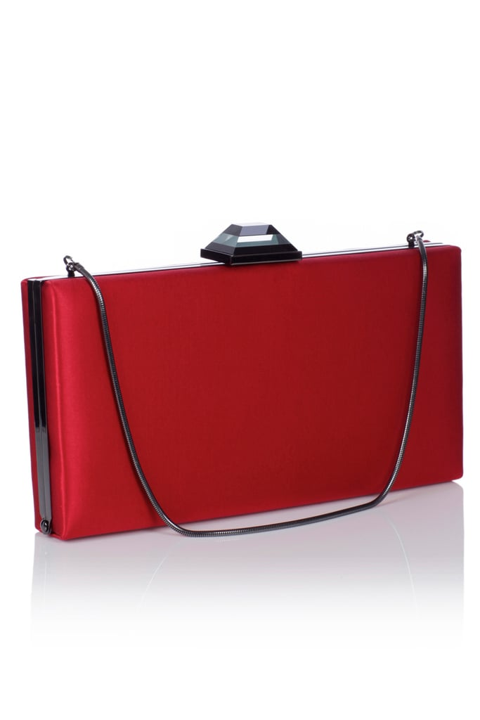 "This boxy clutch screams ""date night"" — wear it with a sleek LBD and head into the evening.