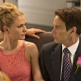Bill and Sookie share some telepathic moments when she can read his mind during the wedding.